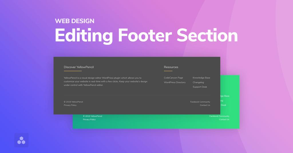 طراحی فوتر برای سایت