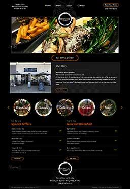 طراحی سایت   Mecca gourmet