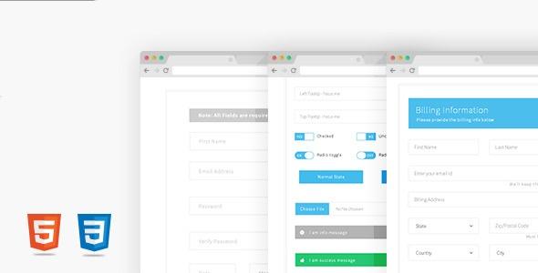 دانلود شش فرم  css زیبا برای طراحی سایت