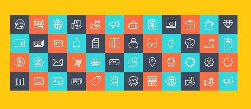دانلود مجموعه آیکن های رایگان برای طراحی سایت فروشگاهی