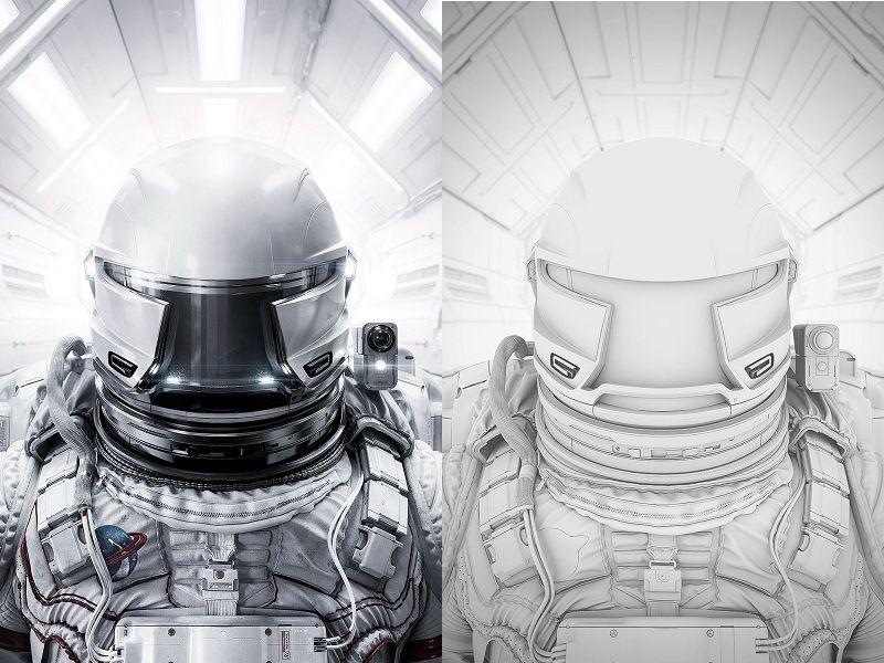طراحی سه بعدی- تصویر سازی فضانورد
