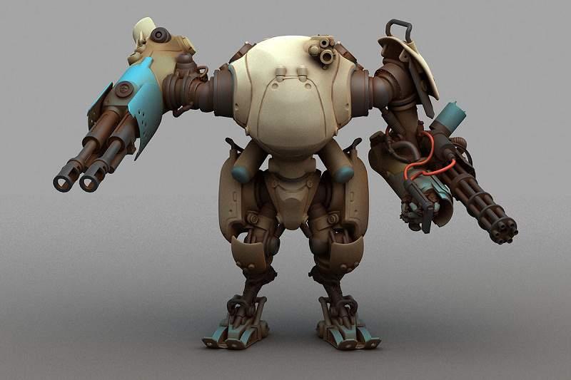 پرینت سه بعدی : طراحی ربات